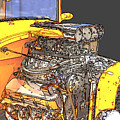 Engine Sketch 2 By Darrell Hutto by J Darrell Hutto