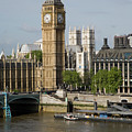 England, London, Big Ben And Thames River by Jerry Driendl