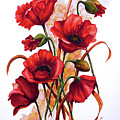 English Poppies 2 by Karin  Dawn Kelshall- Best