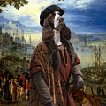 English Springer Spaniel Art Canvas Print  - The Port by Sandra Sij