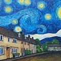 English Village In Van Gogh Style by Malgorzata Pieczonka pseud Vangocha