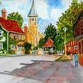 English Village Street by Ramesh Mahalingam