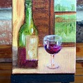 Enjoy  Miniature With Easel by Susan Dehlinger