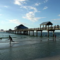 Enjoy The Beach - Clearwater Pier by Christiane Schulze Art And Photography