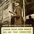 Enjoy Your War Work - London Underground, London Metro - Retro Travel Poster - Vintage Poster by Studio Grafiikka