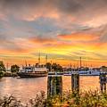 Enkhuizen Sunset by Frans Blok