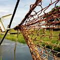 Enkhuizen Windmill And Nets by KG Thienemann