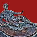 Enos Country Slaughter Statue - Busch Stadium by Allen Beatty