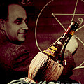 Enrico Fermi And Cp-1 Chianti Bottle by Science Source