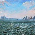 Entering In New York Harbor by Ylli Haruni