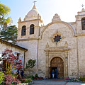 Entering The Church Sanctuary At Carmel Mission-california  by Ruth Hager