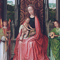 Enthroned Virgin And Child, With Angels by Gerard David