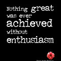 Enthusiasm Quote by Kate McKenna