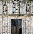 Entrance Facade In Landmark Cathedral Of Santiago De Compostela  by Jacek Malipan