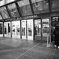 entrance to Port Authority bus terminal New York City USA by Joe Fox