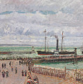 Entrance To The Port Of Le Havre And The West Breakwaters by Camille Pissarro