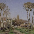 Entrance To The Village Of Voisins by Camille Pissarro