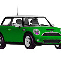 Envy Green Mini Cooper by Edier C