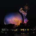 Epcot At Night II by Stacey May