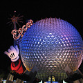 Epcot At Night by Stacey May