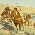 Episode Of The Buffalo Gun by Frederic Remington