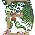 Epsilon Eagle In Green And Gold by Melinda Dare Benfield