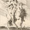 Equestrian Portrait Of Louis Xiii Of France by Pierre Daret