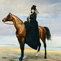 Equestrian Portrait Of Mademoiselle Croizette by Charles Emile Auguste Carolus Duran