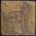 Eqyptian Cat Relief by Richard Bulman