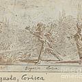 Ergasto And Corisca by Johann Wilhelm Baur