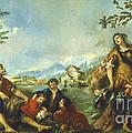 Erminia And The Shepherds by Gian Antonio Guardi And Francesco Guardi