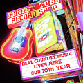 Ernest Tubb Record Shop Neon - Nashville Tennessee by Gregory Ballos
