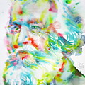 Ernst Haeckel - Watercolor Portrait by Fabrizio Cassetta