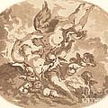 Eros And Psyche by Jean-claude-richard, Abb? De Saint-non After Fran?ois Boucher