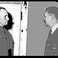 Erwin Rommel Adolf Hitler Circa 1941 Color Added 2016 by David Lee Guss