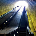 Escalator In Washington Dc Potomac Ave by Susan Vineyard