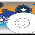 Eskimo And Snowflakes Graphic by Jean Habeck