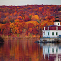 Esopus Lighthouse In Late Fall #1 by Jeff Severson