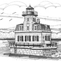 Esopus Meadows Lighthouse by Richard Wambach