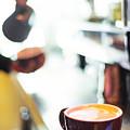 Espresso Expresso Italian Coffee Cup With Machine  by Jacek Malipan