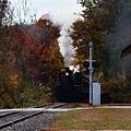 Essex Steam Train Coming Into Fall Colors by Jeff Folger