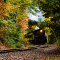 Essex Steam Train Rounding The Bend by Jeff Folger