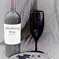 Est 2017 Blackberry Wine by Sherry Hallemeier
