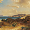 Estepona Beach With The View Of The Rock Of Gibraltar by Fritz Bamberger