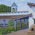 Estudillo House Patio by Miguel A Chavez