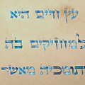 Ets Chayim-proverbs 3-18 by Sandrine Kespi