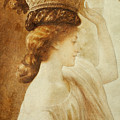 Eucharis  A Girl With A Basket Of Fruit by Frederic Leighton