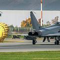 Eurofighter Typhoon 2000 With Parachute by Roberto Chiartano