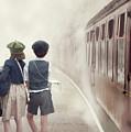 Evacuee Children On The Train Platform by Lee Avison