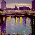 Evening - Ha' Penny Bridge- Dublin by John  Nolan